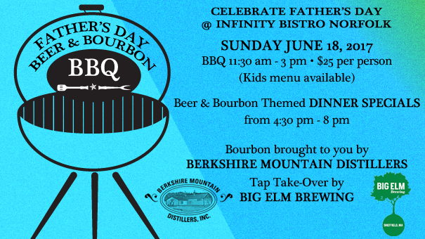 Father's Day Beer & Bourbon BBQ at Infinity Bistro Norfolk