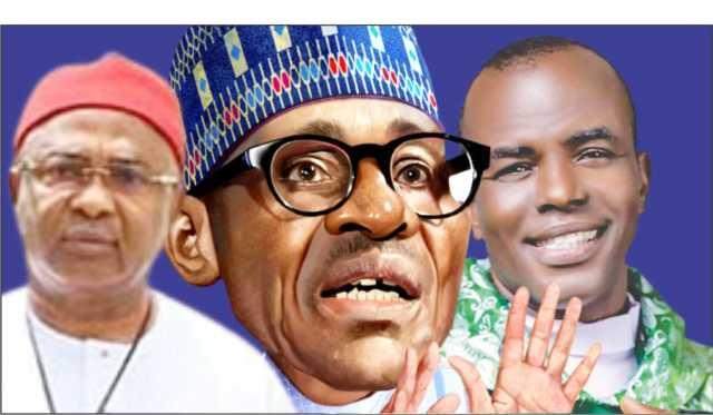 Mbaka blesses Kanu and declares that God is no longer with Buhari, according to Uzodinma.