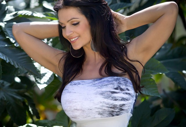 Beautiful Busty Brunette With A Great Smile Hot Girl Photo Print Sexy Girl Poster