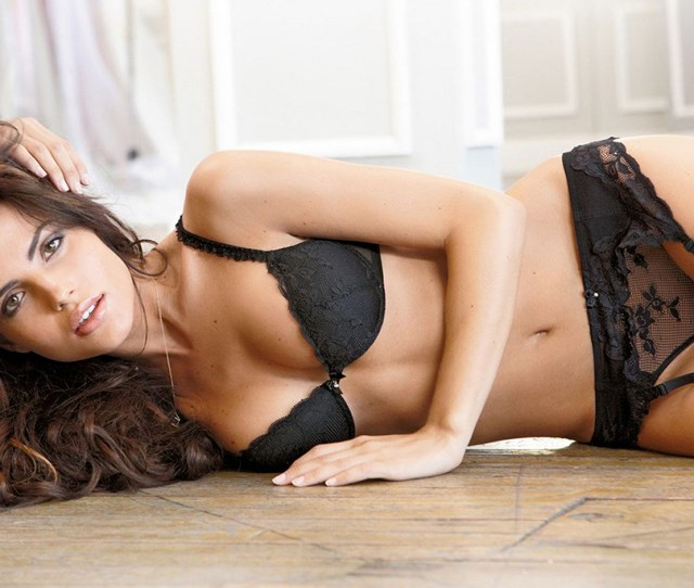Gorgeous Brunette Girl In Black Bra Panties Hot Girl Photo Print Sexy Girl Poster