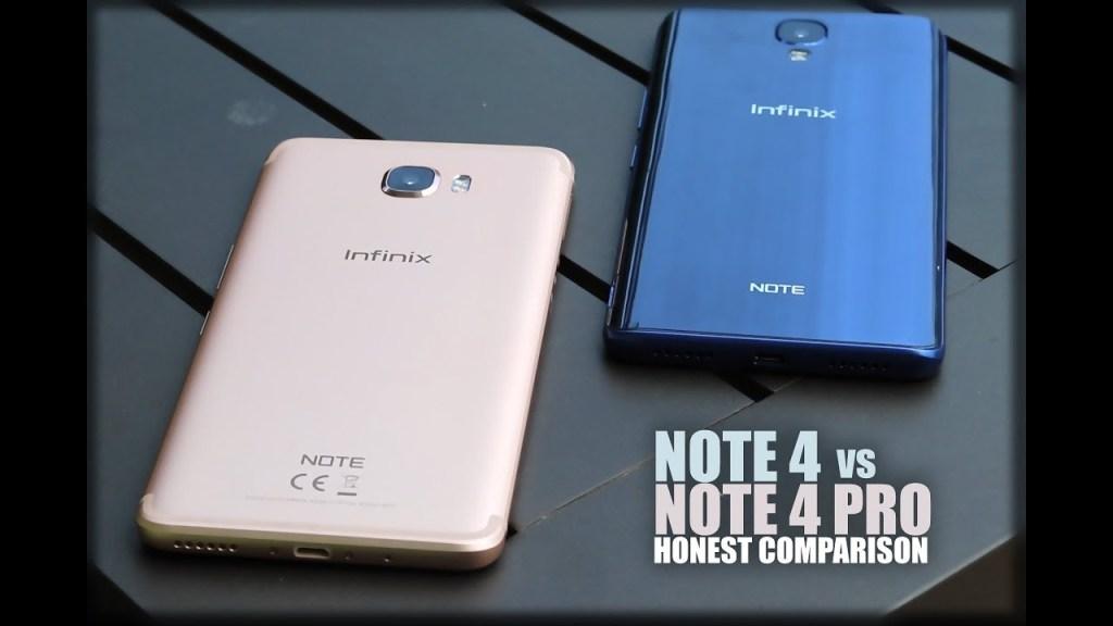 Infinix Note 4 Vѕ Infinix Nоtе 4 Prо