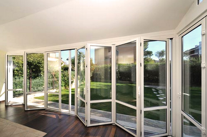 vetrate a scomparsa sunroom