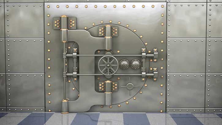 immagine di una porta blindata per caveau
