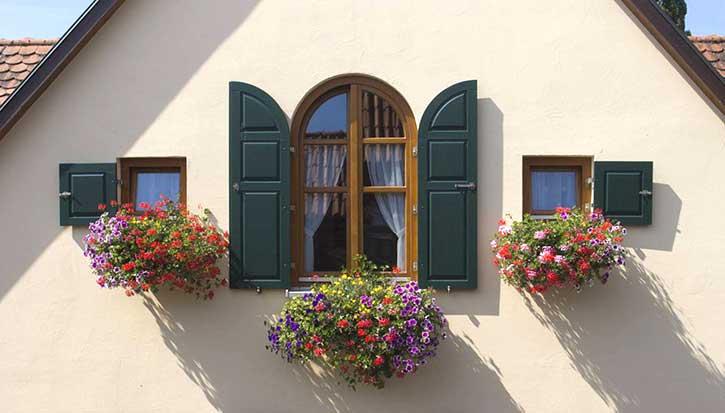 Persiane per finestre ad arco