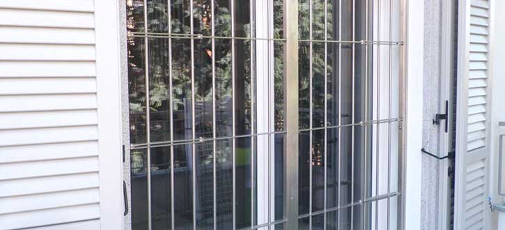 Grate di sicurezza in una casa a Sondrio