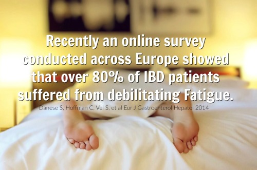 """""""Recently an online survey conducted across Europe showed that over 80% of IBD patients suffered from debilitating fatigue"""""""