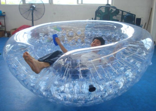 Outdoor Transparent Inflatable Coconut Balls Half Zorb For Water Games