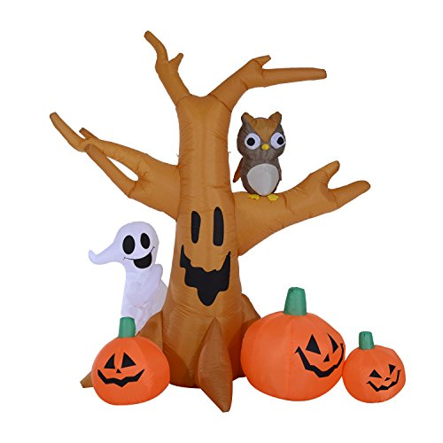 75u2032 spooky scene halloween led lighted outdoor airblown inflatable yard decoration