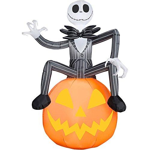 6 Ft Jack Skellington Pumpkin Inflatable Decorations – Nightmare ...