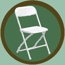 Plastic White Folding chair