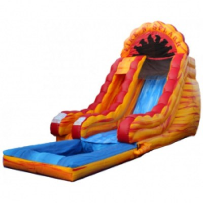 Fire and Splash Slide with Pool