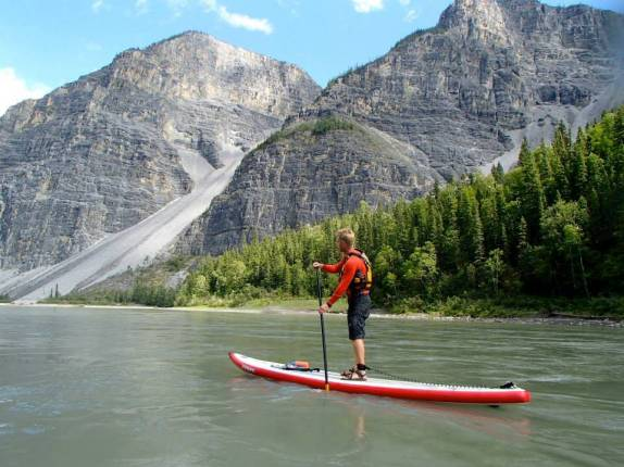 Starboard Inflatable Touring SUP 14ft Nahanni River Coiled Leash