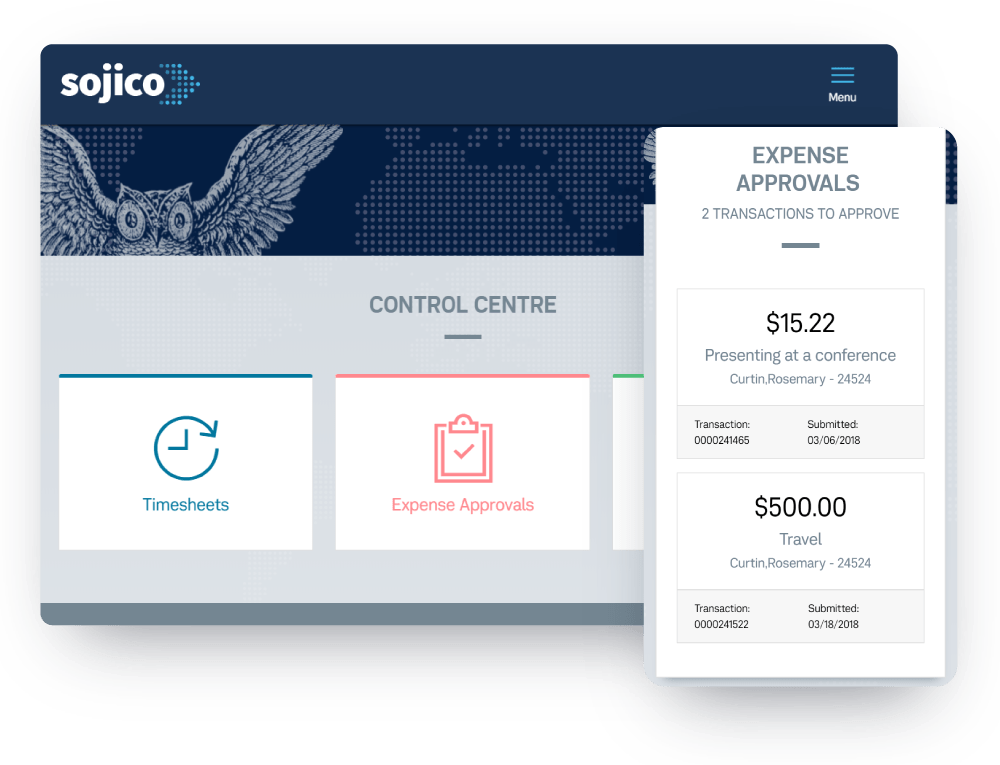 Expense Approvals Desktop Mobile Screen
