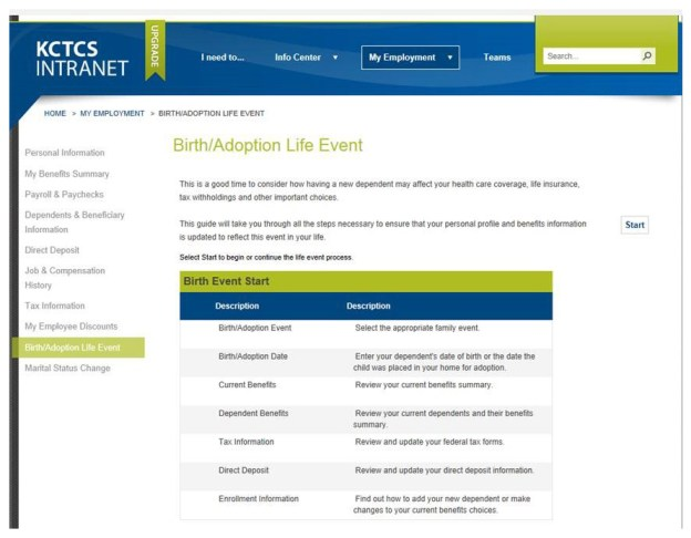 KCTCS-PeopleSoft-Life-Events