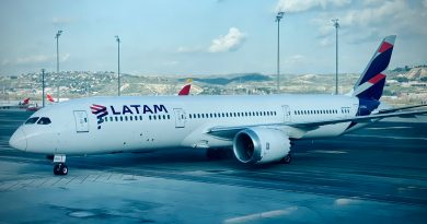 LATAM 787 in Madrid