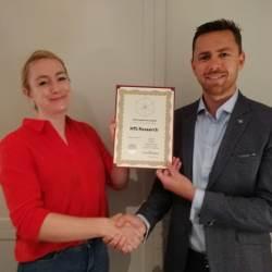 Steven Taelman picked up HfS's award