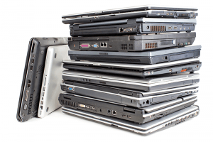 Pile of Old Laptops