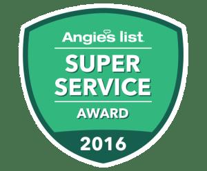 Angie's List Super Service Award 2016!
