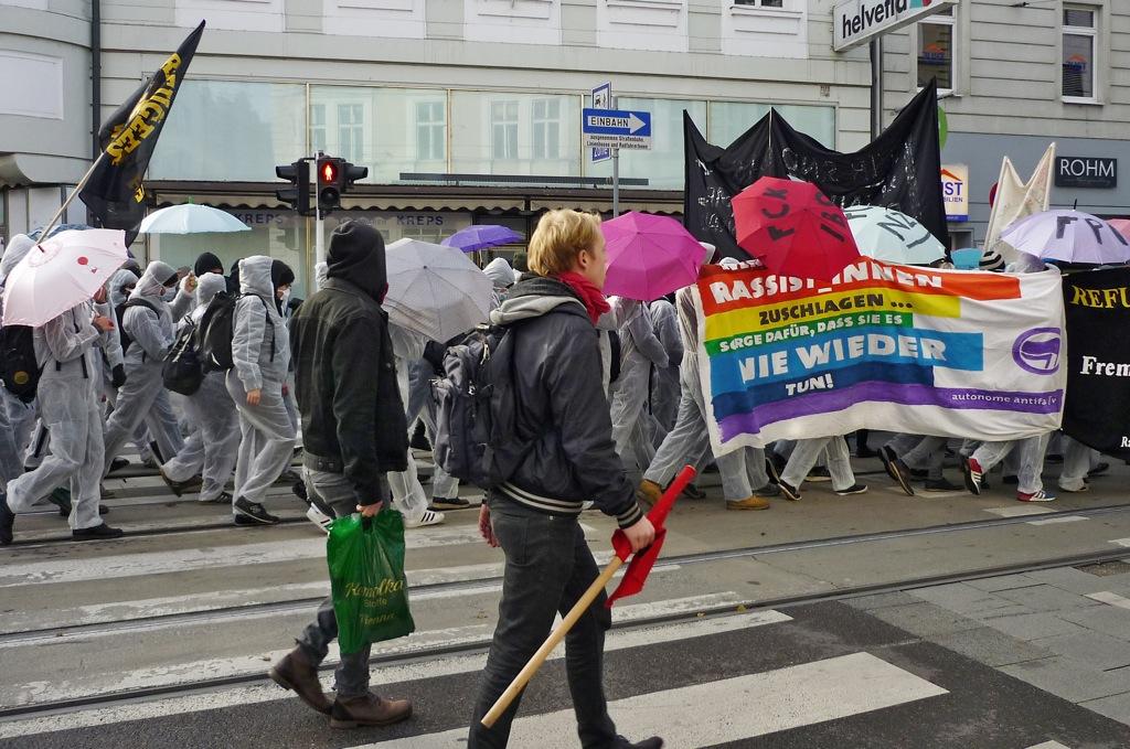 Antifa-Demo Linz