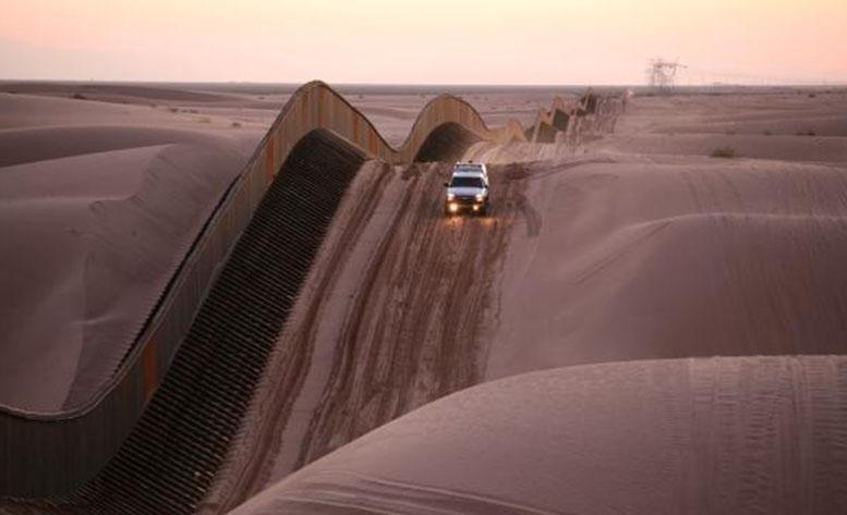 Die Grenze zwischen Mexiko und den USA ist heute Stein des Anstoßes.