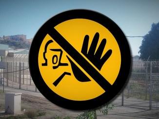 Spanischer Grenzzaun bei Ceuta