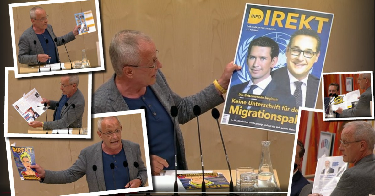 "Dank Peter Pilz: ""Werbe-Show"" für Info-DIREKT im Nationalrat"