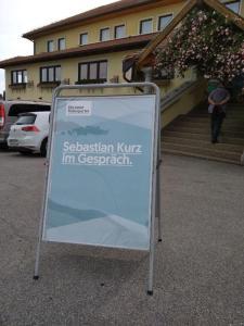 """""""Sebastian Kurz im Gespräch"""" in Altenberg bei Linz"""