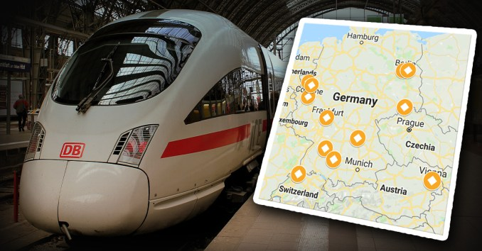 Bahngleis-Schupser kein Einzelfall, Einzelfallkarte