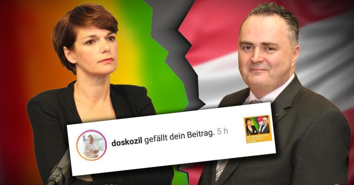 """Hans Peter Doskozils Instagram-Seite likte """"SPÖ-Parteispaltung""""-Beitrag"""