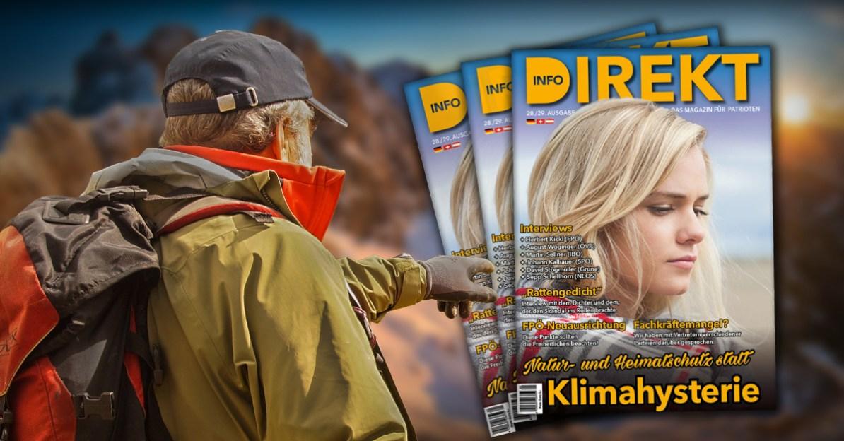 """Magazin Info-DIREKT, Ausgabe 28/29: """"Natur- und Heimatschutz statt Klimahysterie"""""""
