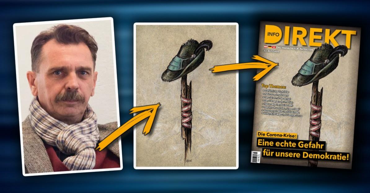 Kunstwerk von Odin Wiesinger ziert Info-DIREKT-Titelseite