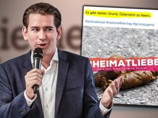 Grünes Kacke-Posting bringt Kanzler Sebastian Kurz (ÖVP) in Erklärungsnot