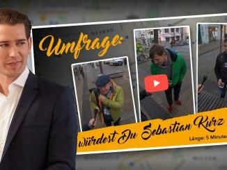 Video-Straßenumfrage: Was würden Sie Sebastian Kurz gerne sagen?