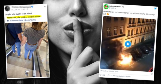 """Totgeschwiegen und relativiert: Hasspostings von """"links"""""""