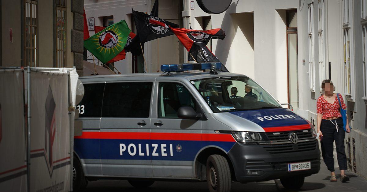 Lächerlicher Antifa-Protest in Wien
