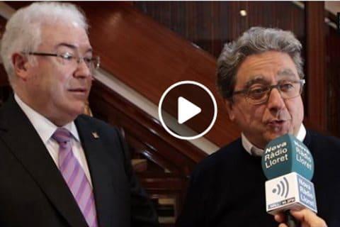 Miguel Moreno candidato a la alcaldía de Lloret de Mar con Enric Millo