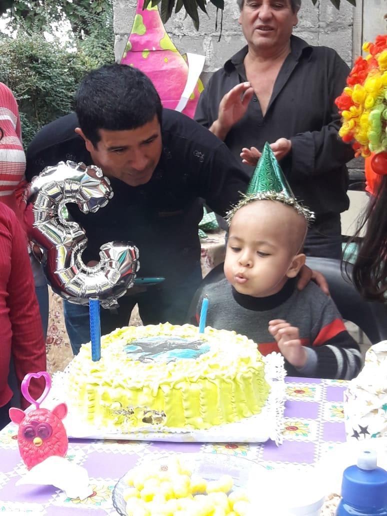 Un nene de Concepción que tiene leucemia cumplió su sueño y tuvo su primera fiesta de cumpleaños
