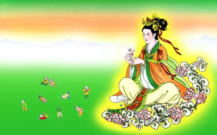 La divinité Nü Wa, en train de créer l'humanité. (Epoch Times)