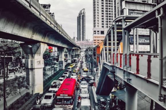Le trafic chaotique de Bangkok