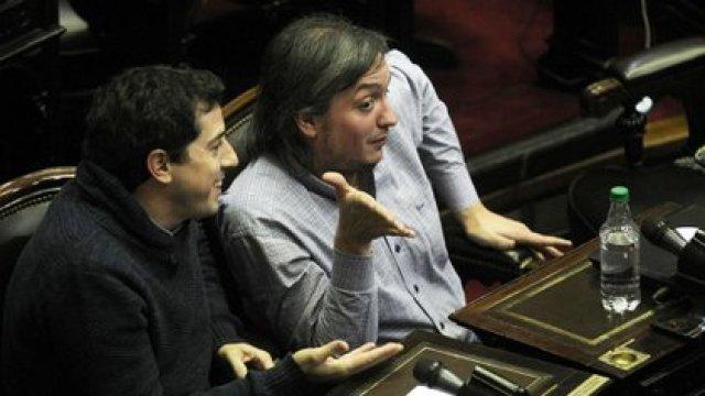 Wado de Pedro y Máximo Kirchner cuando compartían la bancada peronista en la Cámara de Diputados