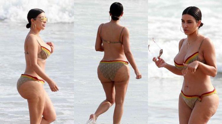 Salieron fotos de Kim Kardashian sin photoshop (Grosby Group)