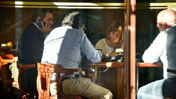 Ritondo se reunió con la fiscal Susana Alonso en un hotel de Olavarría