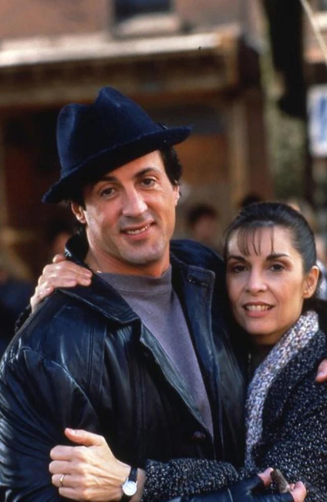 Sylvester Stallone Talia Shire, aquí en Rocky V