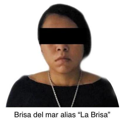 """Brisa del Mar """"N"""" was arrested on September 6 along with José Antonio """"N"""", El Greco, and José Omar """"N"""", El Contador or El Chupón, for different federal crimes (Photo: Twitter @ jsalgadoperalta)"""