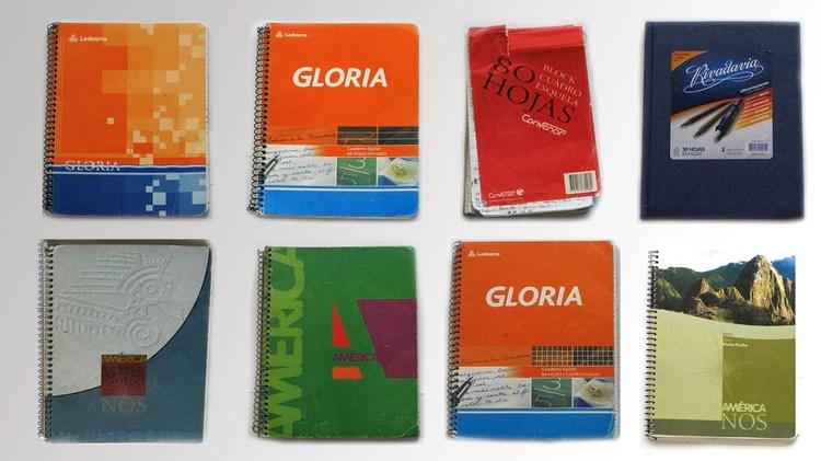 Los cuadernos del chofer Oscar Centeno.