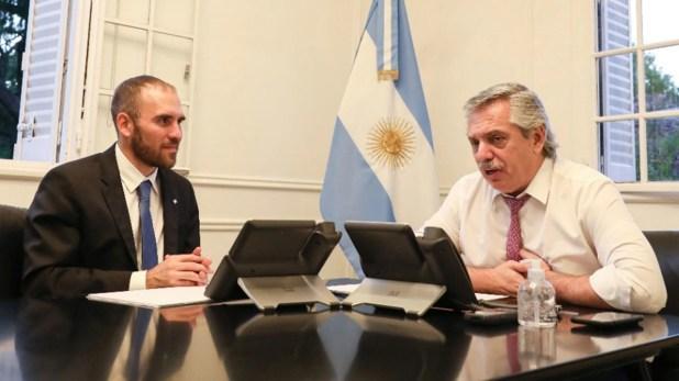 Alberto Fernández, y el ministro de Economía, Martín Guzmán