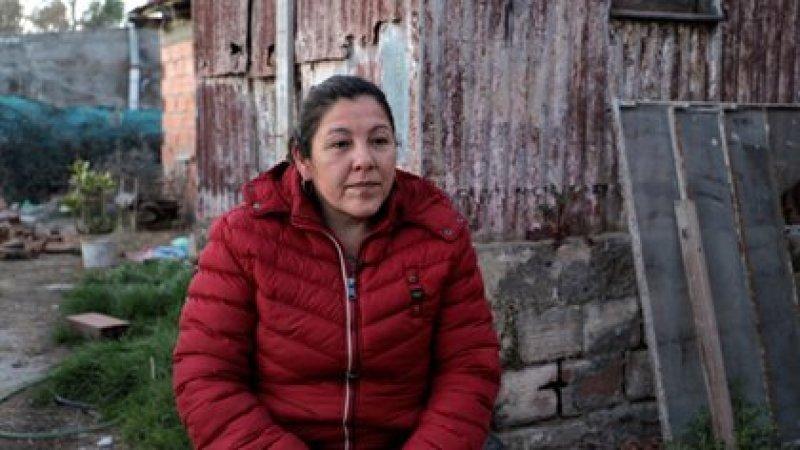 Cristina Castro, en su casa de Pedro Luro