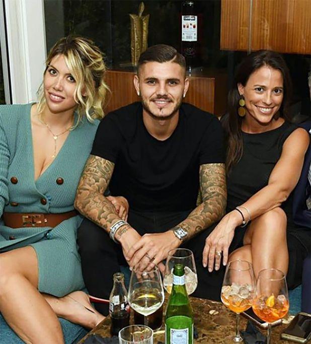 Wanda Nara, Mauro Icardi y Bárbara Rohner (Instagram)