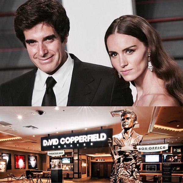 Terminada su mediatizada relación con la supermodelo Claudia Schiffer, Copperfield decide llevar hoy una vida fuera de las cámaras junto a su esposa Chloe Gosselin con quien ha tenido a su hija Sky