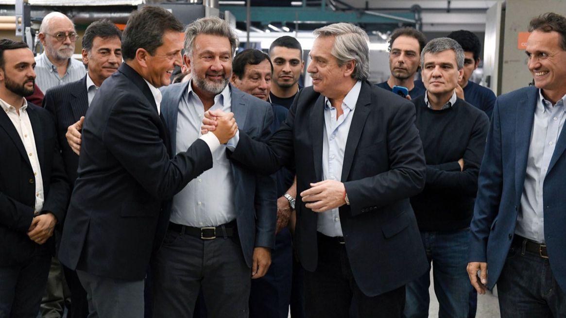 Sergio Massa y Alberto Fernández en San Martín